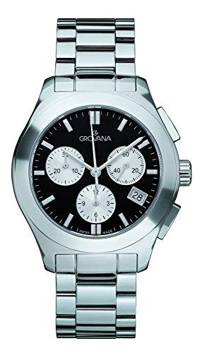 GROVANA - 5096.9137 - Montre Mixte - Quartz - Chronographe - Bracelet Acier Inoxydable Argent