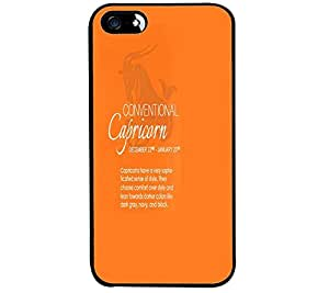 Fuson Premium Conventional Capricon Metal Printed with Hard Plastic Back Case Cover for Apple iPhone SE