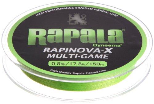 Rapala(ラパラ) ライン ラピノヴァX マルチゲーム 0.8号 17.8lb 150m ライムグリーン  RLX150M
