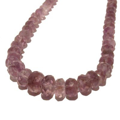 Amethyst Necklace 04 Beaded Faceted Purple Crystal Healing Gemstone 18
