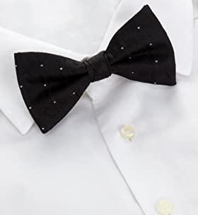 Autograph Silk Rich Circle Print Bow Tie