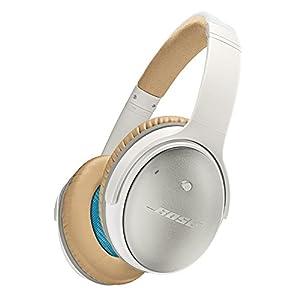 Bose QuietComfortシリーズ 密閉型ヘッドホン ノイズキャンセリングiPhone iPod iPad対応リモコン マイク付き ホワイト QuietComfort25 WH 国内正規品