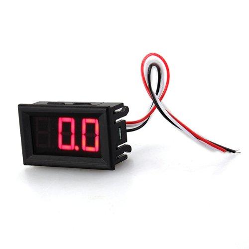 Dc 0V-30V Mini Red Led Panel Digital Display Voltage Meter Voltmeter Tester Three-Wire