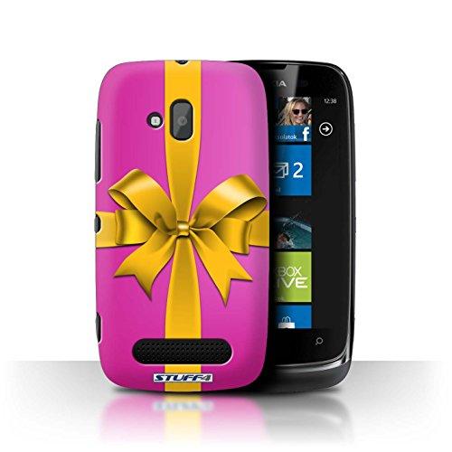 Stuff4 Hülle / Hülle für Nokia Lumia 610 / Rosa Muster / Weihnachtsgeschenk Kollektion