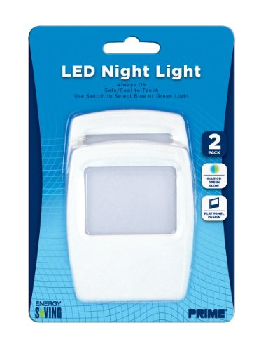 Prime Wire & Cable Nlfl2P Flat Panel Led Night Light, 2-Pack
