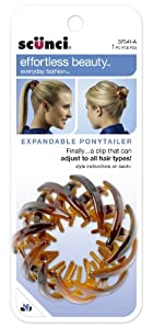 Scunci Effortless Beauty Expandable Ponytailer, Colors may vary