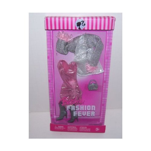 Barbie Doll Fashion Fever Pink and Silver Dress Set - 1