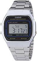 Casio - A164WA-1VES - Retro - Montre Mixte - Quartz Digital - Cadran LCD - Bracelet Acier Argent