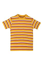 Poppers by Pantaloons Boy's Round Neck T-Shirt (205000005606052, Yellow, 11-12 Years)