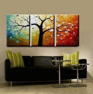 Phoenix Decor-abstract Canvas Wall Art Oil Paintings on Canvas for Home Decoration Modern Painting Wall Decor Stretched Ready to Hang 3 Piece Canvas Art Set