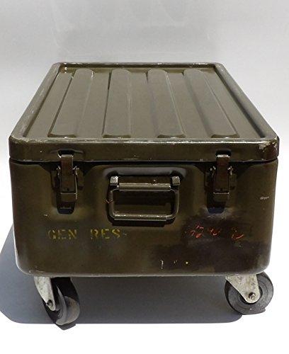 Military Trunk Coffee Table Foot Locker on Wheels 2