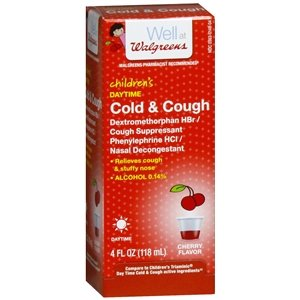 Walgreens Children's Daytime Cold & Cough Liquid, Cherry, 4 Ounces