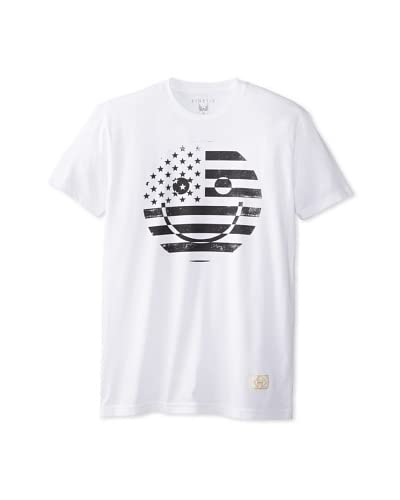 Kinetix Men's American Happy Face Crew Neck T-Shirt