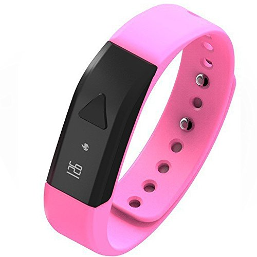 EFOSHM PINK Upgrated K5 Plus Wireless Activity and Sleep Monitor Pedometer Smart Fitness Tracker Wristband Watch Bracelet for Men Women Boys Girls Ladies Man Iphone Sumsung HTC (Pink)