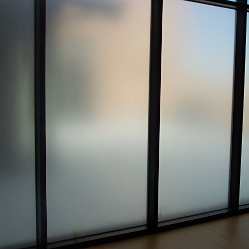Amposei Non-Adhesive Etched Privacy Film For Glass Windows Doors 35.4 by 78.7 inches (Glass Door Privacy Film compare prices)