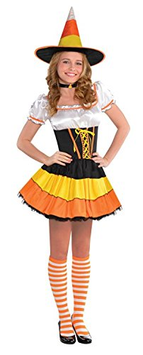 Amscan Junior's Candy Corn Cutie Halloween Costume, Large (11-13) (Candy Corn Costume compare prices)