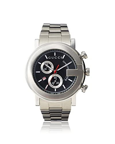 Gucci Men's YA101309 Stainless Steel/Black Watch