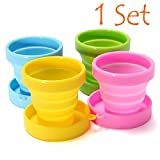 Collapsible Cup - Foldable Cup - Travel Cup - Camping Cup (1...