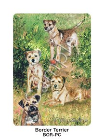 Best Friends Playing Cards, by Ruth Maystead - Border Terrier - 1