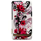 Art Flower White Vintage with Pink Rose for Verizon Motorola Droid A855 Sna ....