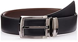 Covo Black and Brown Leather Men's Formal Belt (AXB12-38)