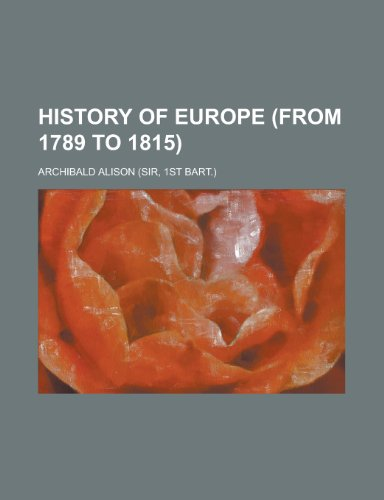 History of Europe (from 1789 to 1815).