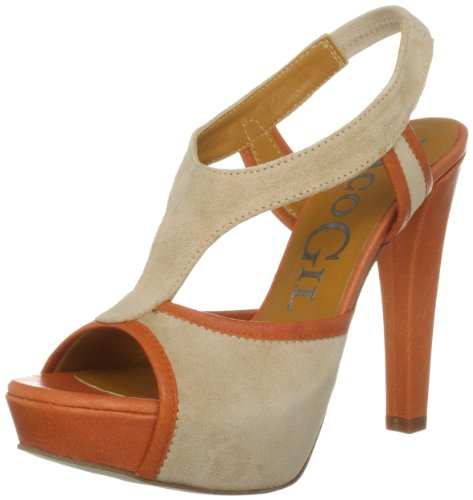Paco Gil Women's P2220 Beige/Fanta Platforms Heels PAC20014710105 5 UK
