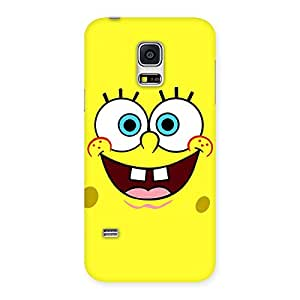Cute Spong Yellow Back Case Cover for Galaxy S5 Mini