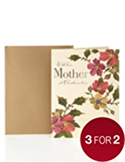 Mother Traditional Floral Christmas Card