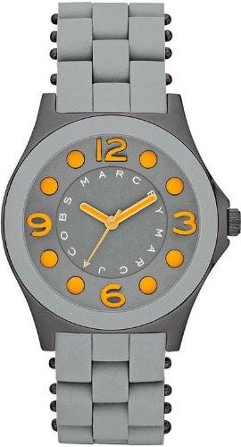 Marc Jacobs Pelly Gris Cadran Gunmetal IP Acier Inoxydable Montre Femme MBM2589