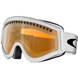 Oakley Unisex-Adult L Frame Snow Goggle(Matte White,Persimmon)