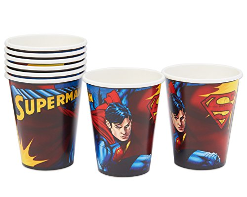 American Greetings Superman Paper Cups (8 Count), 9 oz - 1