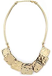 Womens Belle Noel 14 Kt Y/g Plated Molten Squares 18 In. Necklace