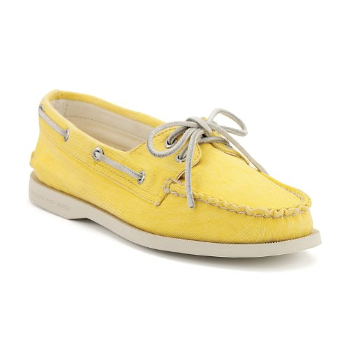 Cheap Sperry Authentic Original 2 Eye Yellow Canvas (B004W2UPNY)