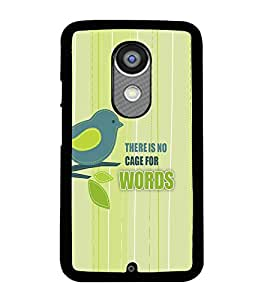 PRINTVISA Quotes Freedom Case Cover for Motorola Moto X 2nd Gen