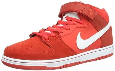 NIKE  Dunk Mid Pro Skateboard, Chaussures de skateboard homme - Rouge - Rot (Crimson/White/Light Crimson), 42.5 EU (8 Homme UK) EU