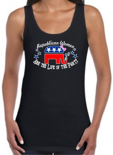 Republican Women Are The Life Of The Party Juniors Tank Top Medium Black