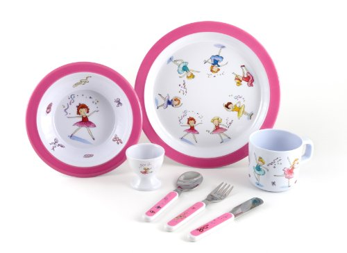 7 Piece Melamine Dining Set - Ballet Surprise