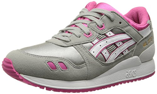 ASICS Tiger Gel Lyte III GS Retro Running Shoe (Big Kid), Light Grey/White, 7 M US Big Kid