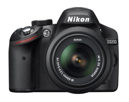 Nikon discount duty free Nikon Digital Single-lens Reflex Camera D3200 Kit Lens Af-s Dx Nikkor 18-55mm F/3.5-5.6g Vr Included Black D3200lkbk - International Version (No Warranty)