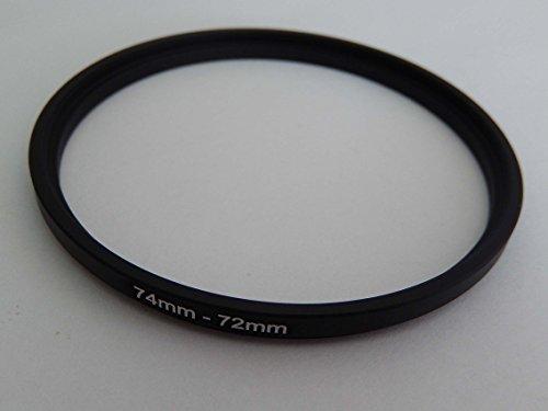 vhbw Step UP Filter-Adapter 74mm-72mm schwarz für Kamera Panasonic, Pentax, Ricoh, Samsung, Sigma, Sony, Tamron