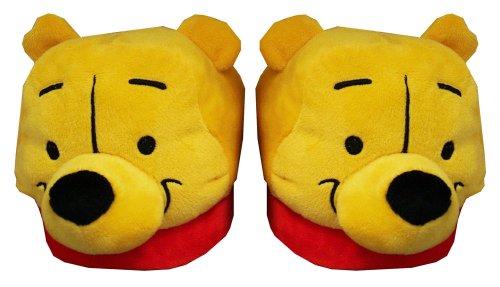 Cheap Winnie The Pooh Disney Face Cartoon Adult Plush Womens Slippers (ECCL7010)