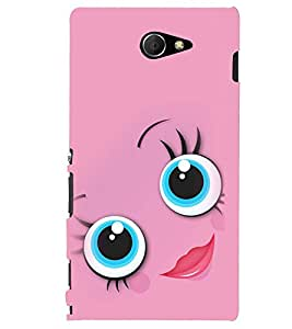 PRINTSHOPPII SMILEY Back Case Cover for Sony Xperia M2 Dual D2302::Sony Xperia M2