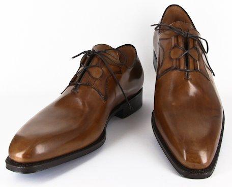New Sutor Mantellassi Caramel Brown Shoes 7 56 5
