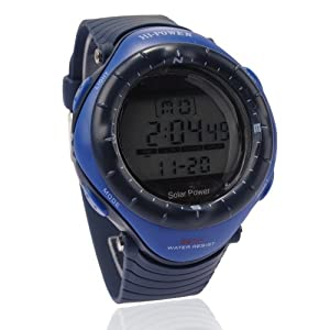 30m Water-proof Digital-analog Boys Girls Sport Digital Watch with Alarm Stopwatch Chronograph 0405M - Blue