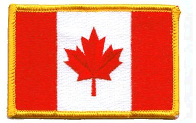 Canada Flag: An Embroidered Iron-On Patch