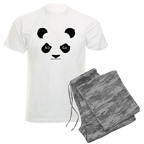 CafePress - Thug Panda - Unisex Novelty Cotton Pajama Set, Comfortable PJ Sleepwear (Grumpy Bear Pajamas compare prices)
