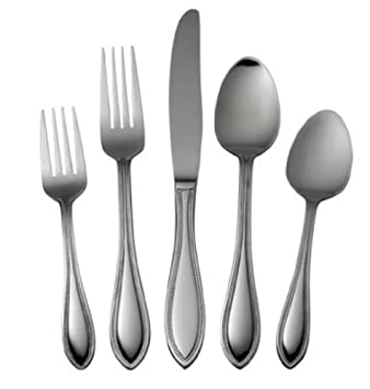 International Silver American Bead Stainless Steel Flatware, 53-Piece Set, Service for 8 (5027190)
