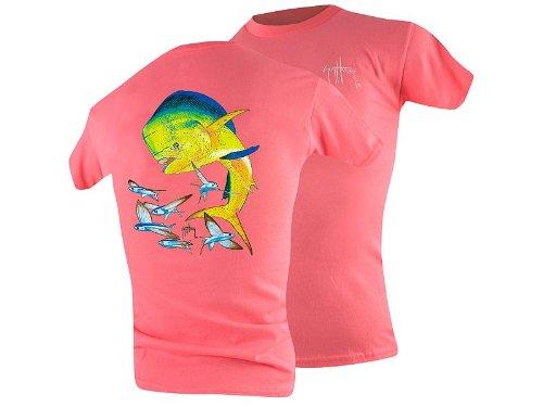 Guy Harvey Bull Dolphin Youth T-Shirt - Dark Pink - Large