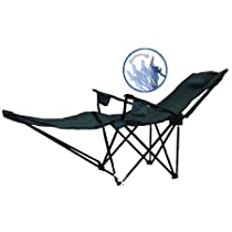 Great Variety Alpina Pro Beach and Pool Side Chair in Silver with blue edge.